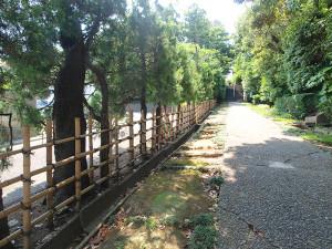 妙蔵寺の参道の竹がき