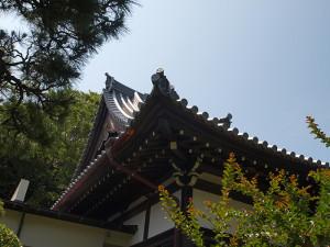 妙蔵寺 本堂の瓦屋根